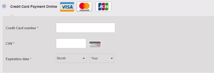 credit card visa and master