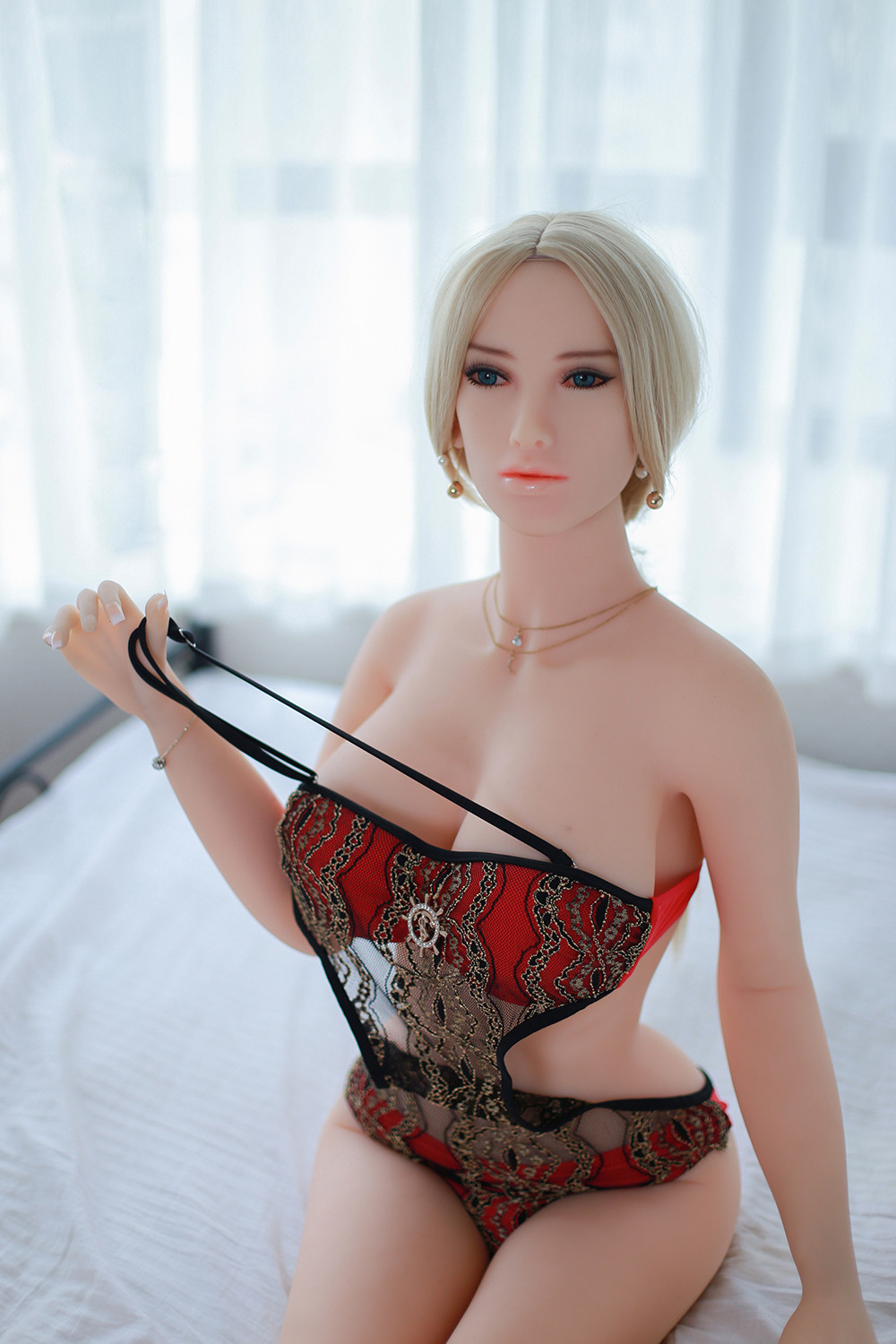 Mysterious Girl Heatable Blonde Realistic Sex Doll