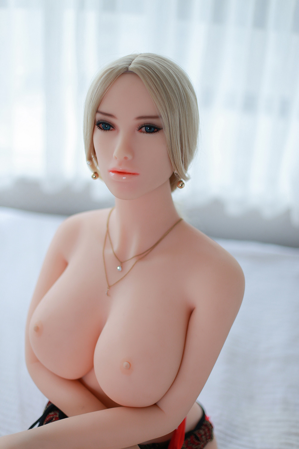 Mysterious Girl Heatable Blonde Realistic Sex Doll Body