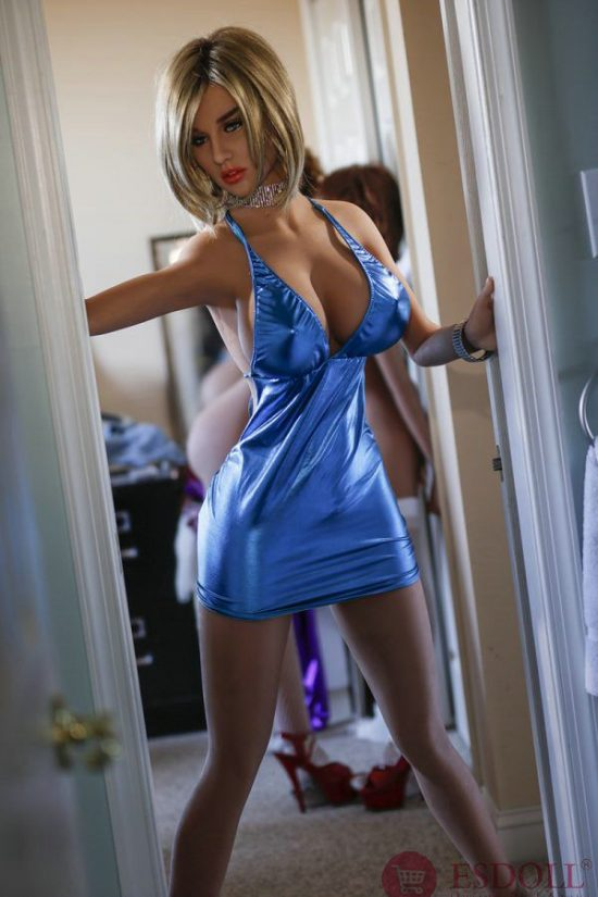 Blue Underwear Sex Doll with Big Tits 170cm (5)