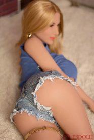 Newest 165CM Big Breast Blond Hair Life Like Adult Doll (1)