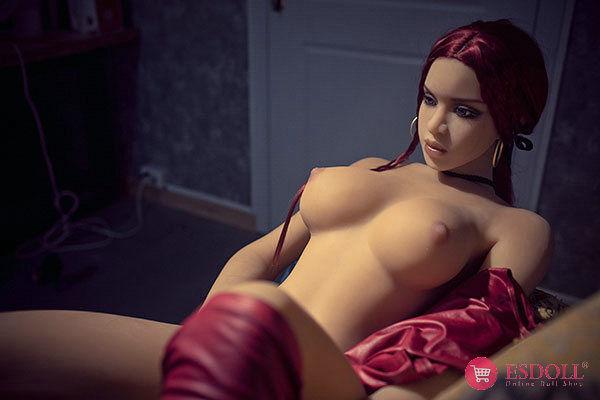 ESDOLL-145cm-red-hair-silicone-sexy-dolls (13)