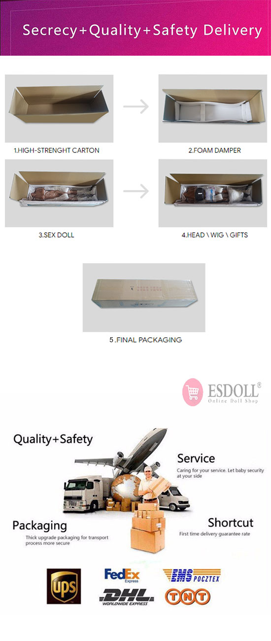 secret shipping and fast shipping from esdoll