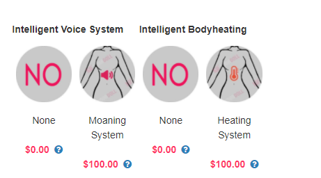 sex doll sound and heating function